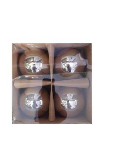 Set palle vetro oro